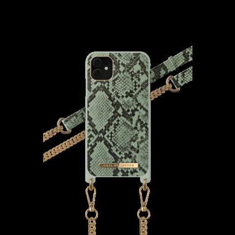 IDEAL OF SWEDEN θήκη λαιμού Khaki Python iPhone 11/XR IDNCSS20-I1961-204
