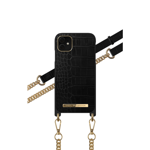 IDEAL OF SWEDEN θήκη λαιμού Jet Black Croco iPhone 11 IDNCSS20-I1961-207