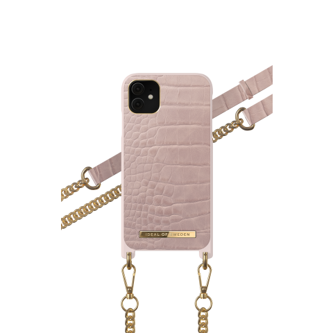 IDEAL OF SWEDEN θήκη λαιμού Misty Rose Croco iPhone 11 IDNCSS20-I1961-211