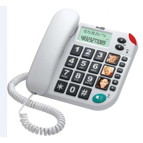 Maxcom Σταθερό Ψηφιακό Τηλέφωνο με Οθόνη και Μεγάλα Πλήκτρα Λευκό KXT480