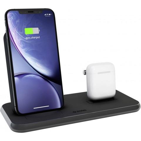 ZENS Βάση ασύρματης ταχείας φόρτισης για iPhone και Airpods 10W Μαύρο ZEDC06B/00