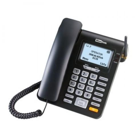 Σταθερό GSM Τηλέφωνο Maxcom Comfort Μαύρο με Λειτουργία Κινητού Τηλεφώνου και Ραδιόφωνο MM28D