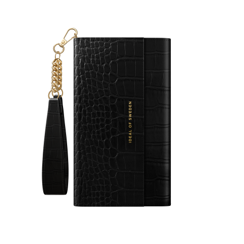 IDEAL OF SWEDEN για το iPhone 12 Pro Max Signature Clutch Jet Black Croco IDSCSS20-I2067-207