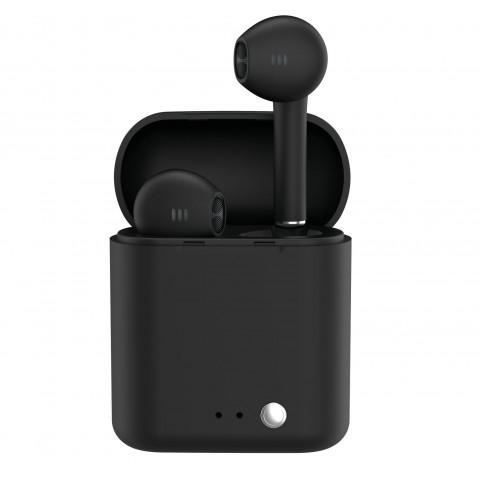 LEDWOOD Ασύρματα Ακουστικά TWS Magnetic Strap Μαύρα LD-T14-PAK2-TWS-BLK