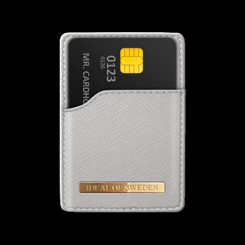 IDEAL OF SWEDEN Magnetic Card Holder Safiano Light Grey IDMCH-62