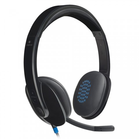 Logitech Η540 Ακουστικά υπολογιστή με USB