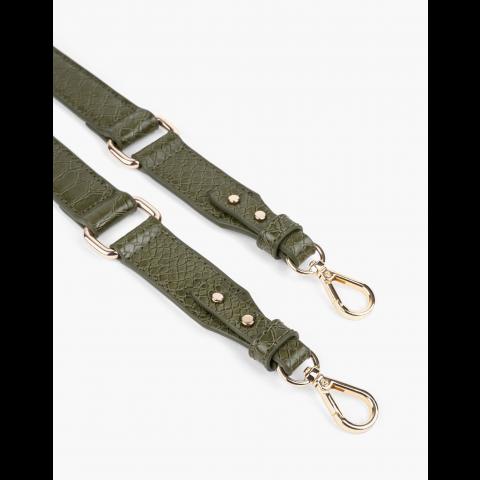 IDEAL OF SWEDEN Λουράκι Τσάντας AW20 Thin Universal 2,3 cm  Green Snake IDSAW20-23-228