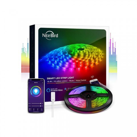 NiteBird Gosund Έξυπνη Ταινία LED RGB Wi-Fi with Music Mode & Alexa / Google Home Voice Control 5m (SL2)