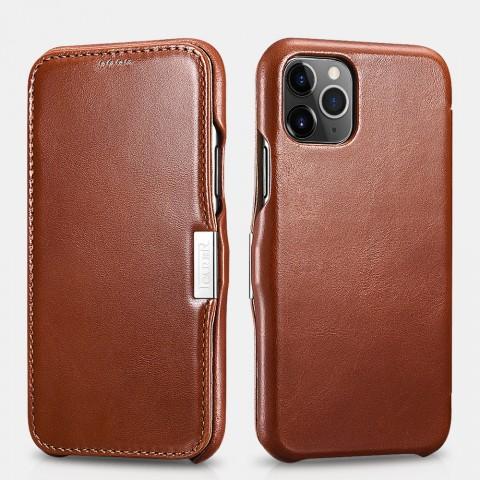 iCarer iPhone 11 Pro Max Case Vintage Series Side-open Khaki