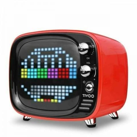 Divoom Tivoo Retro Mini Bluetooth Ηχείο Με Γραφικά Stary Red DV-TIVOO-RD