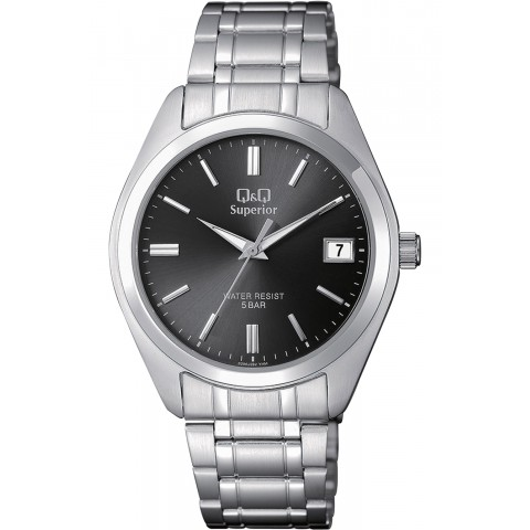Q&Q Ανδρικό Ρολόι Superior all stainless steel, WR50 40mm.S286J202Y