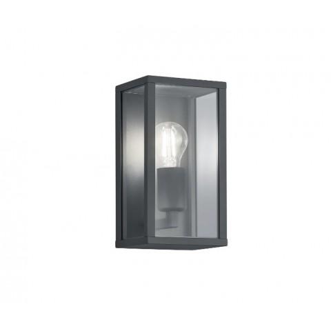Well Φωτιστικό τοίχου εξωτερικού χώρου σκούρο γκρι Calabria E27 60W IP44 LEDWL- CALABRIA- DGY-WL