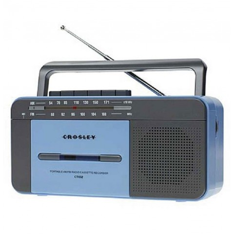 Crosley Portable Cassette Player - Blue/Grey SF0004AU-BL