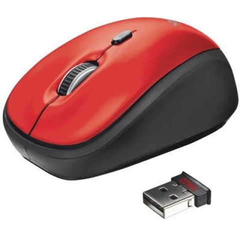 Trust MOUSE USB OPTICAL WRL YVI RED 19522