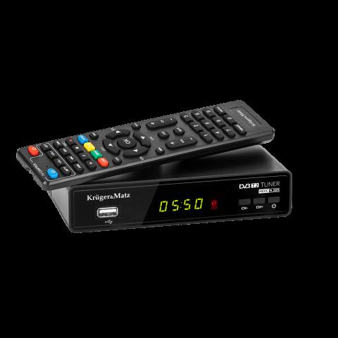 Kruger&Matz Επίγειος Δέκτης DVB-T2 με Ethernet KM0550