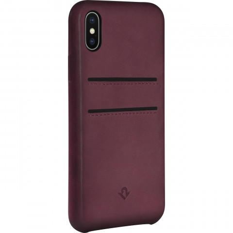 TWELVE SOUTH Relaxed Leather Clip with pockets, for iPhone X / XS - marsala TW1076MA