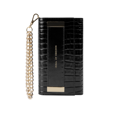 IDEAL OF SWEDEN Θήκη πορτοφόλι iPhone 11/XR  Neo Noir Croco Studio Clutch IDSTCAW20-1961-236