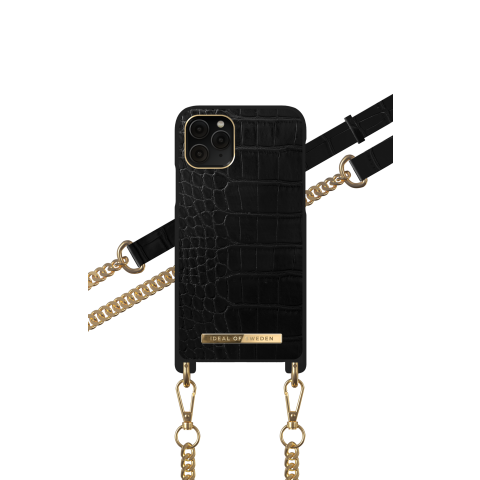 IDEAL OF SWEDEN θήκη λαιμού iPhone 11 PRO/XS/X Jet Black Croco IDNCSS20-I1958-207