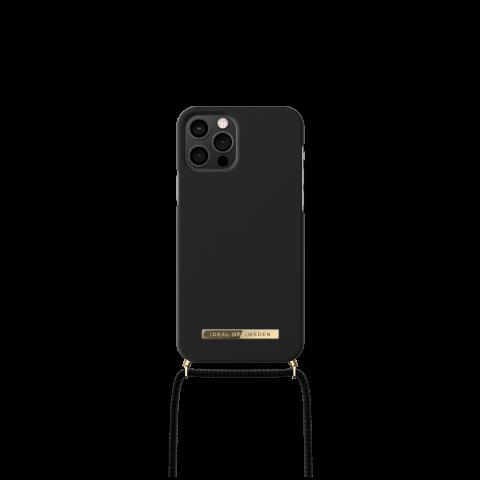 IDEAL OF SWEDEN θήκη λαιμού για iPhone 12/12 Pro Jet Black IDPNSS21-I2061-267