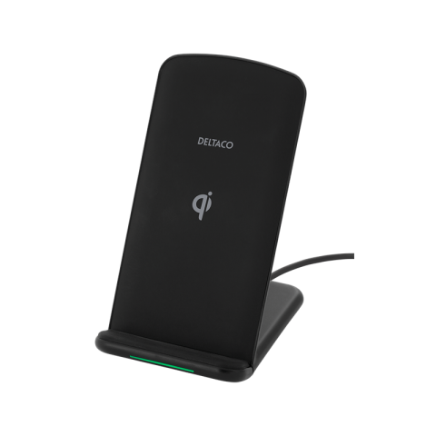 Deltaco Fast Wireless Charging pad, Qi certified, 10W, Blk QI-1033