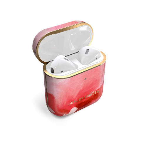 IDEAL OF SWEDEN AirPods Case Print 1st & 2nd Generation Coral Blush Marble IDFAPCSS21-260