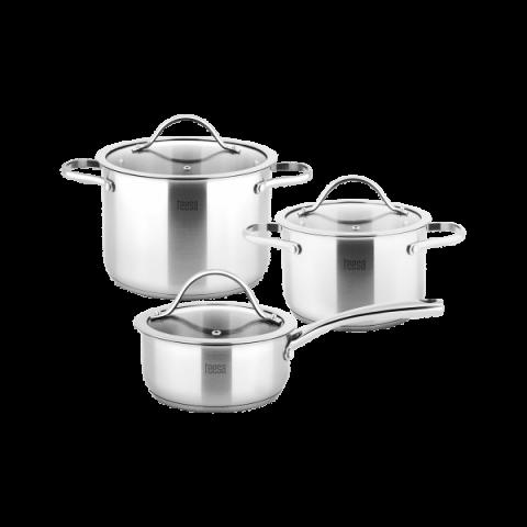 Teesa 3 μαγειρικά σκεύη COOK EXPERT MASTER 1lt,3lt,6lt TSA0141