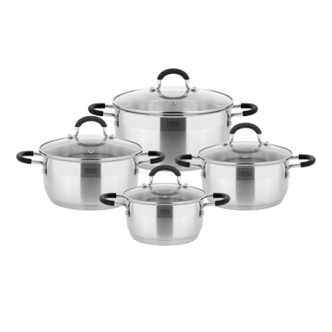 Teesa 4 μαγειρικά σκεύη COOK EXPERT MASTER 1.25lt,2lt,2.5lt,4lt TSA0140