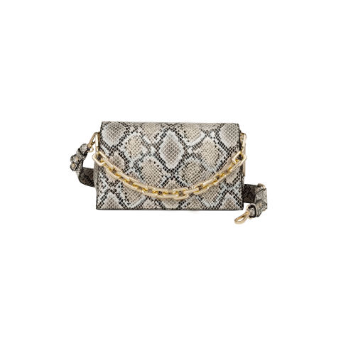 IDEAL OF SWEDEN Leia Crossbody Bag Beige Shimmery Snake IDLCBSS21-277