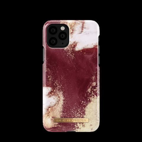 IDEAL OF SWEDEN Θήκη Fashion iPhone 11 PRO Golden Burgundy Marble IDFCAW19-I1958-149