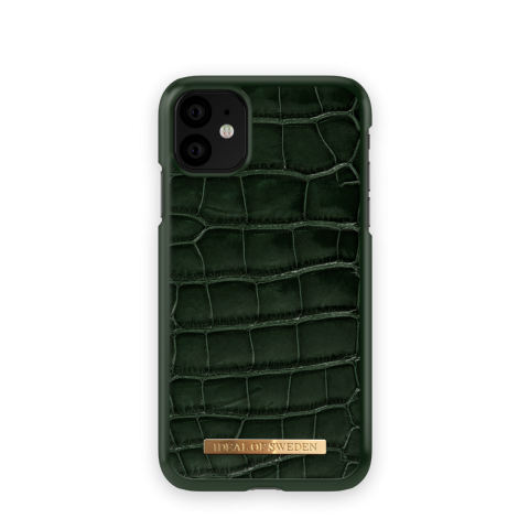 IDEAL OF SWEDEN Θήκη Fashion Saffiano iPhone 11 Evergreen Croco IDFCSADC19-I1961-83