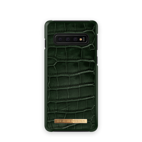 IDEAL OF SWEDEN Θήκη Fashion Saffiano Samsung Galaxy S10 Evergreen Croco IDFCSADC19-S10-83