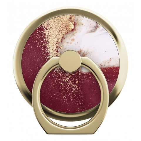 IDEAL OF SWEDEN Magnetic Ring Mount Golden Burgundy Marble IDMRM-149